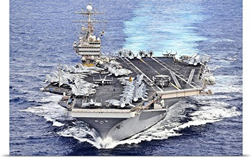 Stocktrekイメージポスター印刷entitled USS Abraham Lincoln transits the Pacific Ocean 30