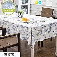 ホーム コットンリネン テーブル,防水 証拠をオイル テーブル クロス,きれいに拭く 家具プロテクター の キッチン ピクニック パーティ カフェ-N 130x150cm(51x59inch)