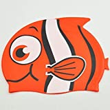 Dongcrystal Kid's Silicone Fish Swim Cap Cartoon Animal Swiming Hat-Red Bigeye Fish [並行輸入品]