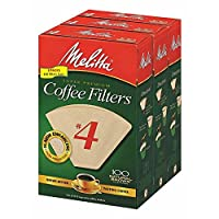 Melitta # 4Cone Coffee Filters, 300ct。(Pack of 2)