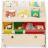 LOWYA (ロウヤ) おもちゃ収納 絵本棚 絵本ラック 本箱 おもちゃ箱 子供用 木製 タイプA おしゃれ 新生活