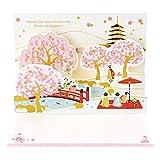 サンリオ 春カード ポップアップ 金線描き桜と舞妓 P4310