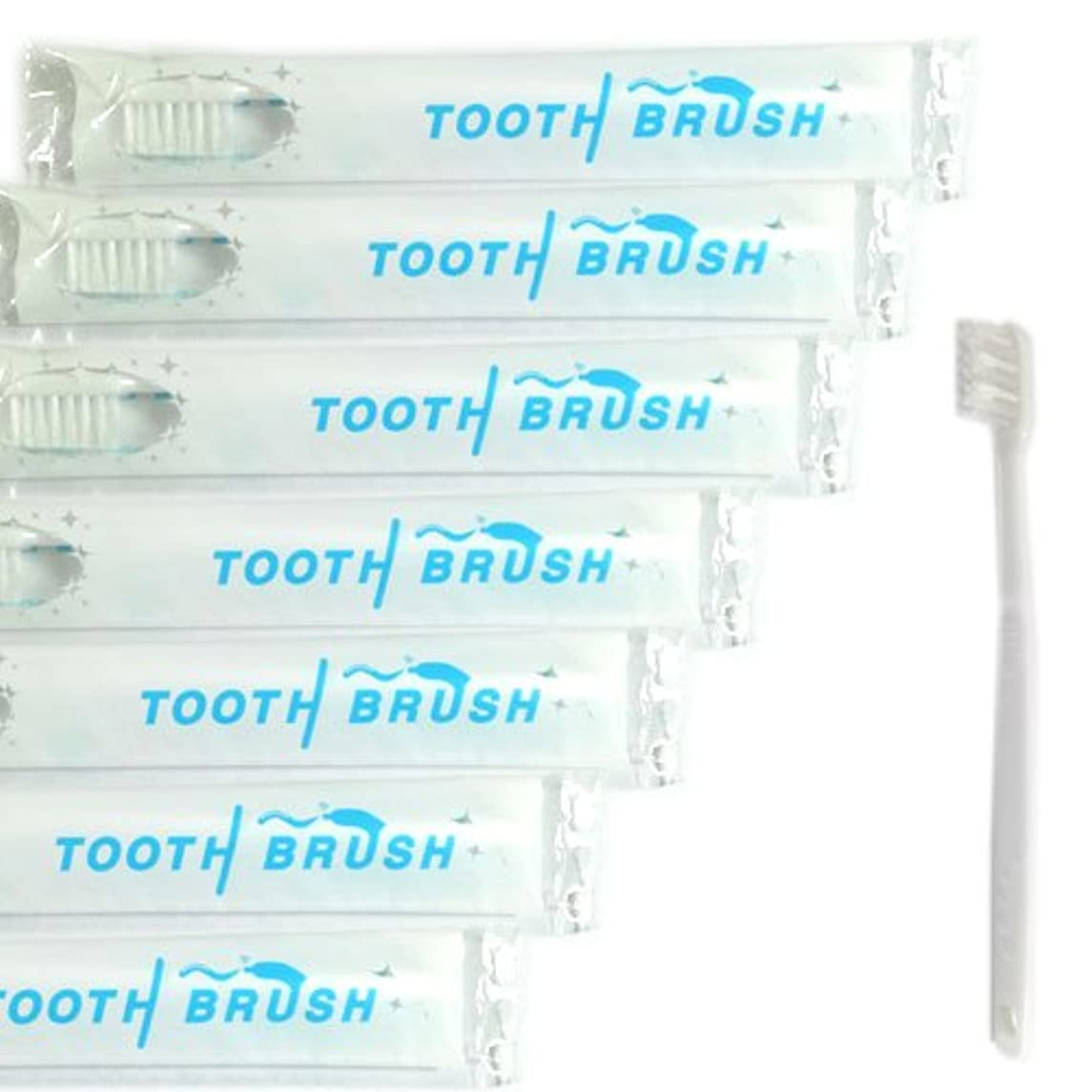 頻繁に着服カストディアン業務用 使い捨て(インスタント) 粉付き歯ブラシ(100本組) 予備付き