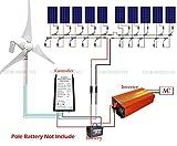 ECO-worthy 400W 風力発電機 & 10*100W ソーラーパネル+20A コントローラー+ インバーター