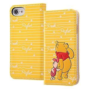 レイ・アウト iPhone8 / iPhone7 ケース 手帳型 ディズニーキャラクター スタンディング カーシヴ くまのプーさん RT-DP14T/PO