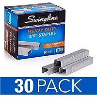 """Swingline Staples、頑丈、60-sheet容量、3/ 8""""長、100/ストリップ、5000/ボックス、30ボックス(s7079398cs)"""