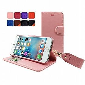 【HANATORA】 iPhone 6s/6 (4.7インチ) ケース PUレザー手帳型ケース ピンク