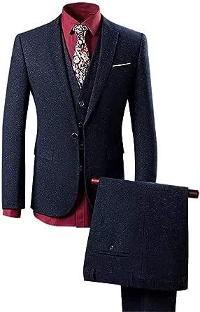 Wolfmen スーツ メンズ スリーピース スリム カジュアル チェック柄 無地 ダブル 紳士 四季 ビジネス シングル一つボタン 四つボタン 入社式/卒業式/就職/結婚式 礼服 防シワ 大きいサイズ ファッション