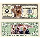 Yorkshire Terrier Yorkie Dog Million Dollar Bill (w/Protector) [並行輸入品]