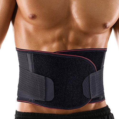 CareU腰痛コルセット 腰サポーター 腰痛ベルト ダイエット器具 男女兼用 (ブラック, XXL)