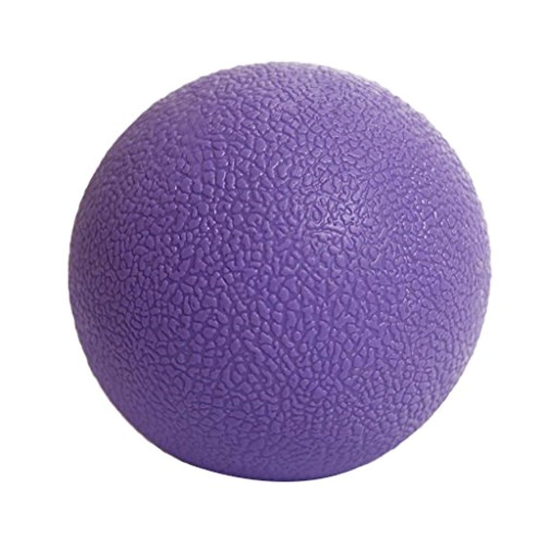 スクラッチ手配する死んでいるマッサージボール ジムフィットネス 筋肉マッサージ ボール トリガーポイント 4色選べる - 紫の, 説明したように