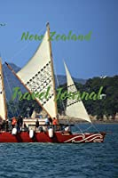 New Zealand Travel Journal: 6x9 Inch Lined Travel Journal/Notebook - We Travel not to escape life, but so life doesn't escape us - Waka, Maori's traditional sailing boat, Maori art