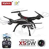 SYMA X5SW WIFI カメラ付 RC ラジコン 空撮 クアッドコプター マルチコプター(ドローン)ブラック 6軸ジャイロで初心者でも安定飛行 3D飛行で宙返り ヘッドレスモード