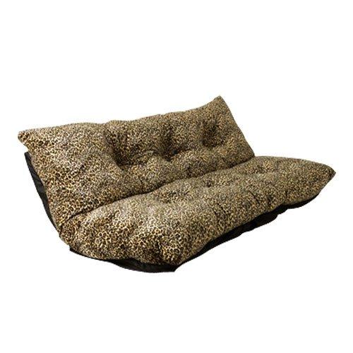 ソファ リクライニング 座椅子 ヒョウ柄 ソファー フロアソファ ローソファ 2人掛け 座いす カウチソファ