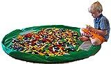 DEZAR おもちゃ 収納 マット 自宅 & 外遊び 大小2個セット (緑)