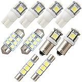 120系 ランドクルーザープラド 純正電球交換型 極LEDルームランプ 10点
