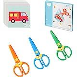 COKOO-Plastic Safety Scissors Pre-School Training Scissors and Offices Scissors(3pcs)