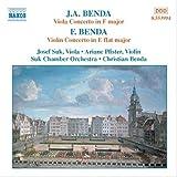 F. ベンダ:ヴァイオリン協奏曲/J.A.ベンダ:ヴィオラ協奏曲