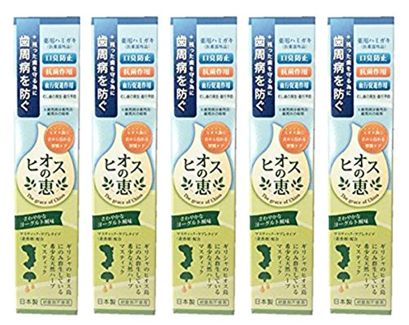 ディレイ手つかずの勤勉なヒオスの恵 60g 【まとめ買い1個60g×5個】薬用ハミガキ 日本製