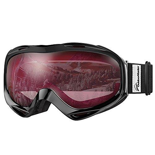 OUTDOUTDOORMASTERスキーゴーグル UV400 紫外線100%カット メガネ対応 スノーゴーグル 180°広視野 スノボートゴーグル 曇り止め 防風防塵防雪 防放射 耐衝撃 冬山登山/サバゲー/バイク/スキー運動に全面適用 スポーツ用ゴーグル