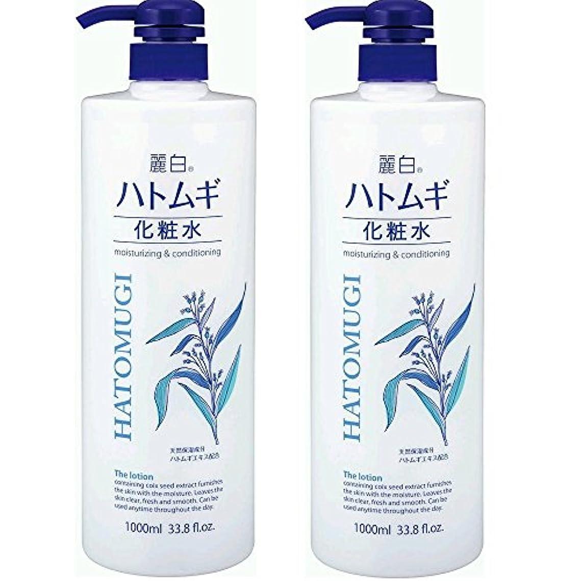 ダンプモジュール変色する麗白 ハトムギ化粧水 本体 大容量サイズ 1000ml 2本セット