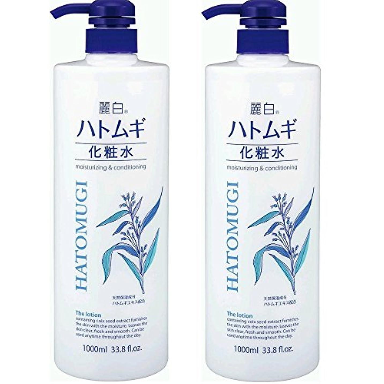 表面防止二十麗白 ハトムギ化粧水 本体 大容量サイズ 1000ml 2本セット