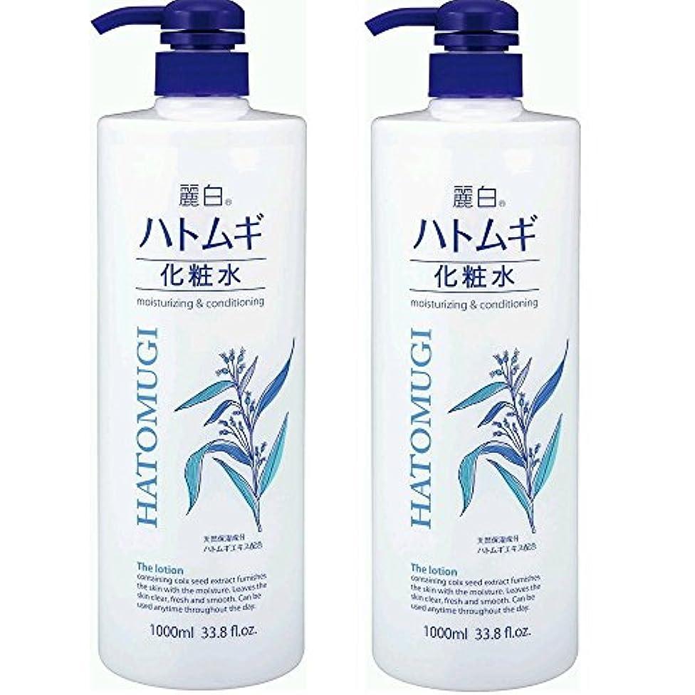大工新年メール麗白 ハトムギ化粧水 本体 大容量サイズ 1000ml 2本セット