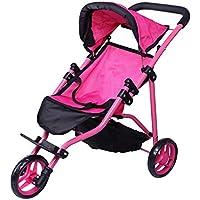 [プレシャストイズ]Precious toys Jogger Hot Pink Doll Stroller, Black Foam Handles and Hot Pink Frame 0129A [並行輸入品]