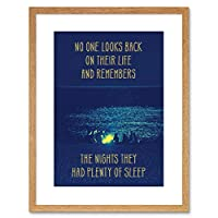 Quote Typography Motivation Plenty Sleep Memories Framed Wall Art Print
