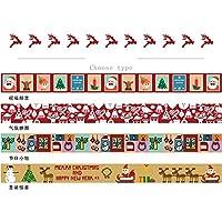 RaiFu マスキングテープ クリスマススタイル 和紙 カラフル DIY ステッカー 装飾 クリスマスの驚き