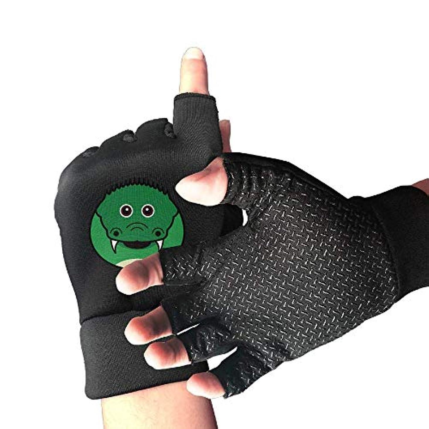 悪用以来安価なCycling Gloves Snake Face Men's/Women's Mountain Bike Gloves Half Finger Anti-Slip Motorcycle Gloves