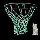 ディーマーク 日光吸収 バスケットボールネット 夜に光る バスケットゴール 交換用 リングネット 夜光ネット