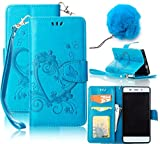 Vandot iPhone SE/ iPhone 5/ iPhone 5S カバー 2 In 1 セット ラブハート 花 蝶々 押し花 デザイン PUレザー マグネット アイフォンseケース 手帳型