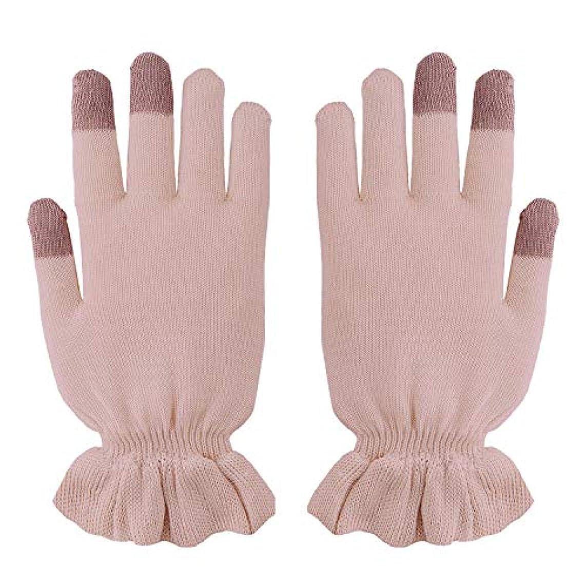 シートジャム架空のおやすみシルク 手袋 絹(シルク)のおもてなし 手荒れ予防 保湿 (ピンク)