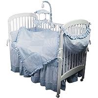 Hoohobbers 4-Piece Crib Bedding, Blue Sherbert by Hoohobbers