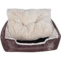 SONGMICS ペットベッド 犬 ベッド 猫 マット 洗える 耐噛み 両面使用クッション 冬用 内寸40×30cm NPGW02Z