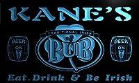 ネオンプレート サイン 電飾 看板 カフェ バー pa1746-b Kane's Irish Shamrock Home Pub Bar Beer Neon Light Sign
