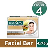 Palmolive Skin Therapy Facial Bar Soap with Turmeric and Tamarind - 75g (Pack of 4)