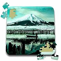 Scenes from the Pastマジックランタンスライド–A冬Morn on Lake Yamanaka under the WatchのMT。Fuji–10x 10インチパズル( P。_ 246684_ 2)