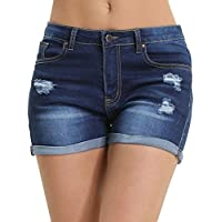 JMITHA Women's Denim Short Jeans Casual Summer High Waist Stretchy Fit Perfect