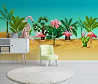Minyose 壁紙 カスタムルームインテリア3Dの壁紙壁の壁画ノスタルジアチューリップレンガテレビの背景壁写真壁紙