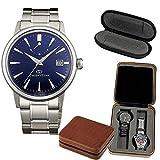 [オリエント]ORIENT 腕時計 ORIENT STAR オリエントスター クラシックパワーリザーブ 機械式 自動巻き(手巻き付き) ロイヤルブルー WZ0371EL メンズ (1本用時計ケース&保管用4本用時計ケース)