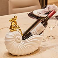 QCRLB ヨーロッパの美のワインの棚、ワインの瓶の棚、創造的な家の装飾のワインの棚 ワインラック