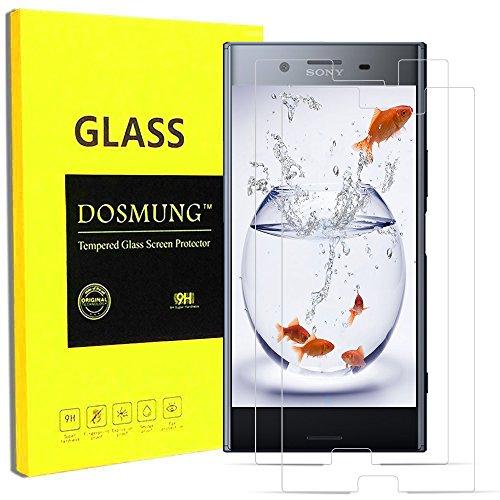 Sony Xperia XZ 保護フィルム-DOSMUNG(2枚セット)Sony Xperia xz ガラス フィルム-強化保護ガラス 高精細 クリスタル透明度 9H硬度 ガラス飛散防止 指紋防止 気泡ゼロ