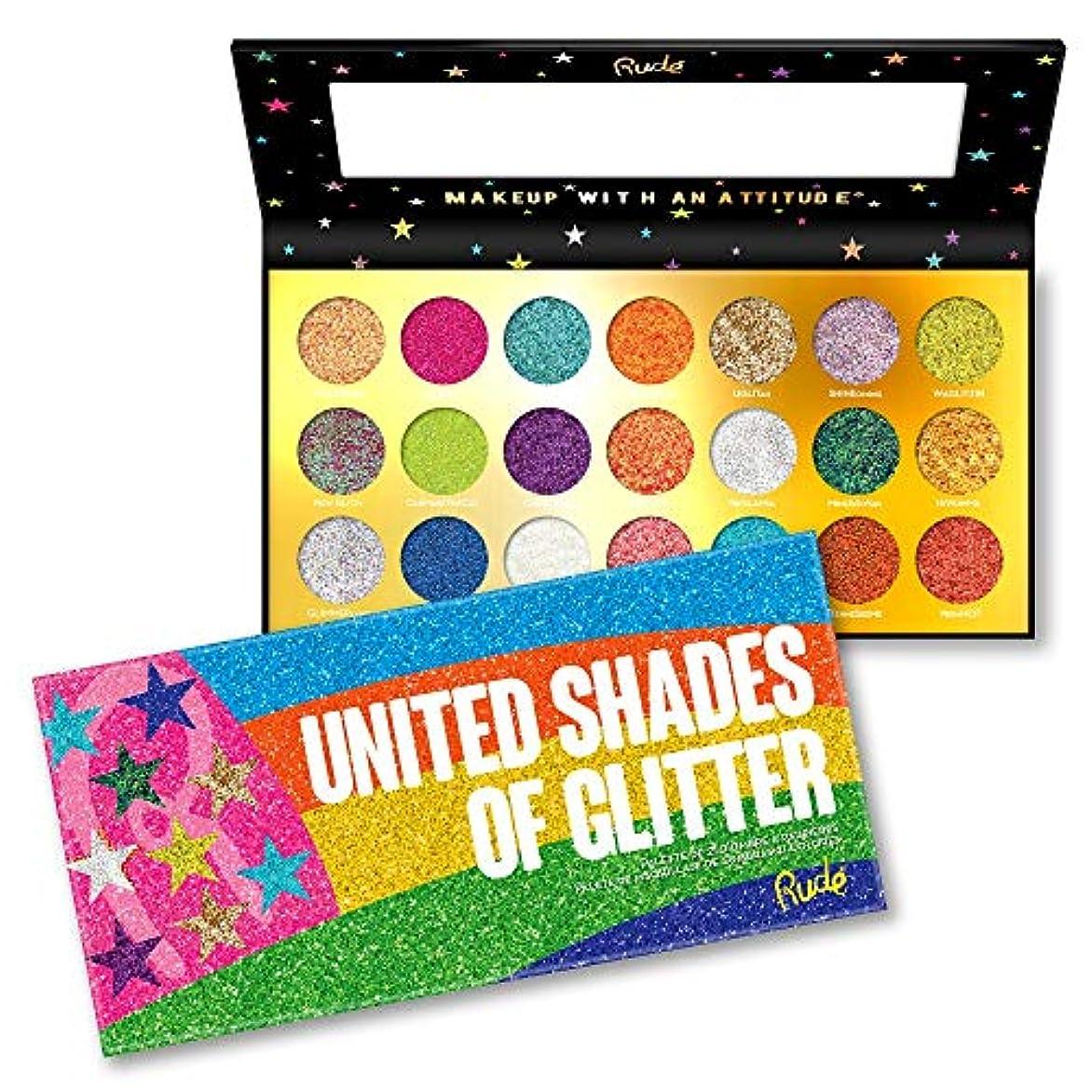 連続した嫌がらせ記念日RUDE? United Shades of Glitter - 21 Pressed Glitter Palette (並行輸入品)