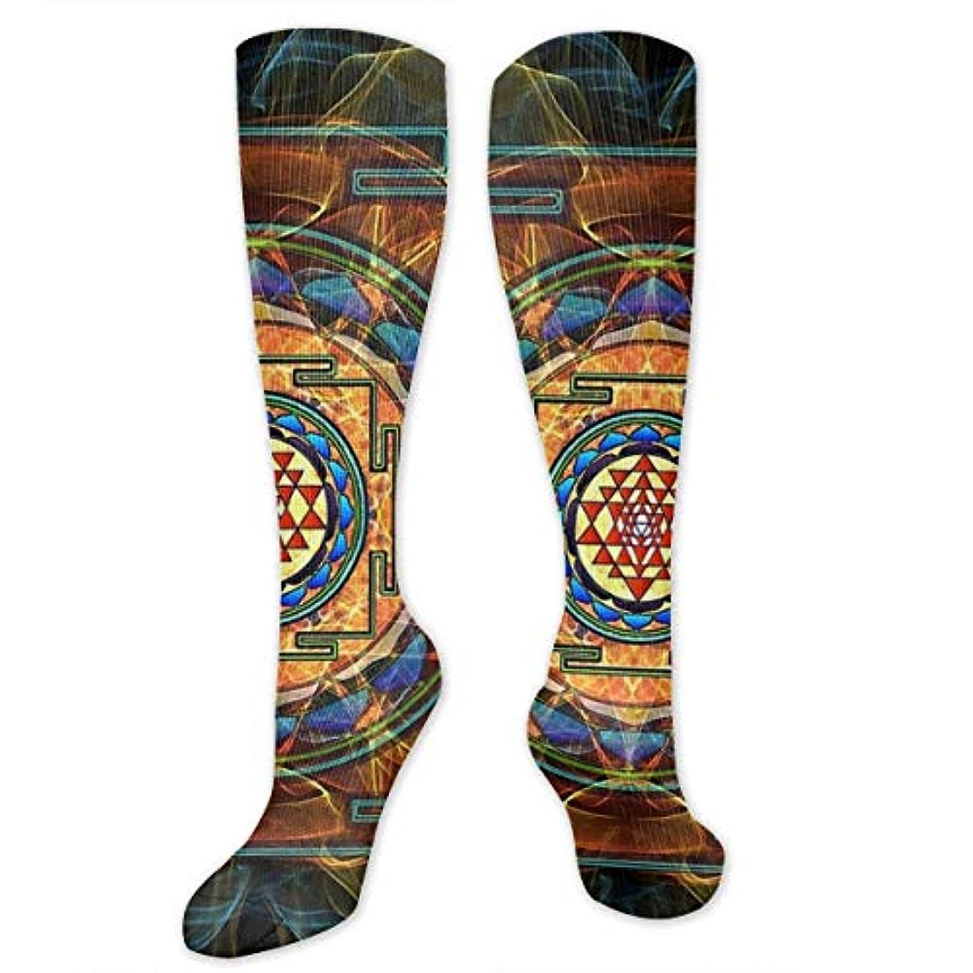 に話す寛容なアセンブリ靴下,ストッキング,野生のジョーカー,実際,秋の本質,冬必須,サマーウェア&RBXAA Sacred Geometry.jpg Socks Women's Winter Cotton Long Tube Socks Knee...