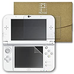 PROTAGE 3DS LL   new 3DS LL 対応 下画面 フィルム ・ 上画面 ガラスフィルム 液晶保護 硬度9H 0.33mm