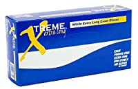 AMMEX - XNPFL48100 - Extra Long Nitrile Gloves - Xtreme - Disposable Powder Free 4 mil XLarge Blue (Case of 1000) [並行輸入品]
