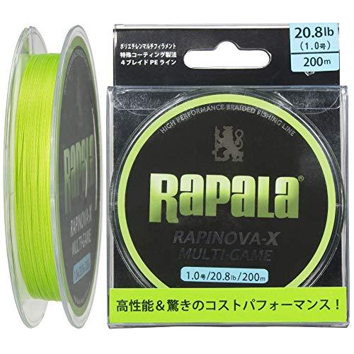 ラパラ(Rapala) PEライン ラピノヴァX マルチゲーム 200m 1.0号 20.8lb 4本 ライムグリーン RLX200M10LG