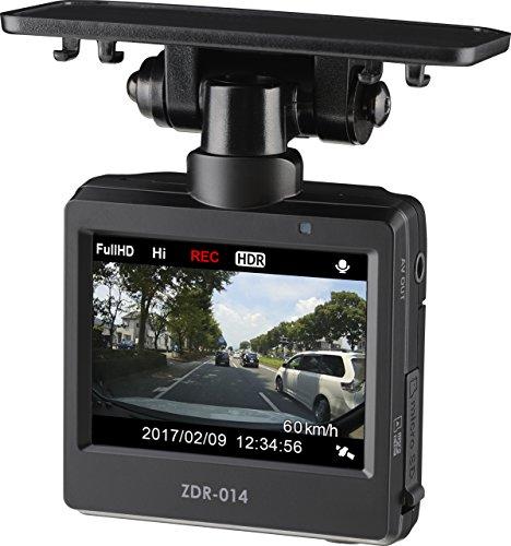 コムテック ドライブレコーダー ZDR-014 200万画素 Full HD 1年保証 常時録画 衝撃録画 高速起動